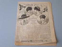 Revue Ancienne Broderie L'Almanache Du Foyer 1920  & - Magazines: Subscriptions