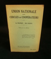 ( économie Socialisme Coopération ) UNION NATIONALE Des CERCLES De COOPERATEURS Louis JEGOU 1929 - Economie