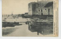 BELGIQUE - NIEUWPOORT - RAMSCAPELLE - GUERRE 1914-18 - La Gare Après Le Bombardement , L'incendie Et L'inondation - Nieuwpoort