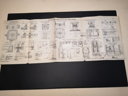 ANNALES DES PONTS Et CHAUSSEES (Dep 13) - Plan Du Viaduc Sur L'étang De Caronte - Imp A.Gentil 1915 (CLF15) - Public Works