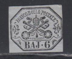 Etats Pontificaux 1852 Yvert 7a * TB Charniere(s) - Etats Pontificaux