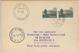 Dänemark - 2x25 Ö. Heidegesellschaft, Karte Schiffspost Göteborg - Frederikshavn - Briefmarken