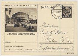DR - 6 Pfg. Hindenburg Bild-GA-Karte (Breslau - Jahrhunderthalle) Hannover 1939 - Deutschland