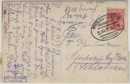 DR - Bahnpost Breslau-Stettin, Z.647, Sw-Fotokarte (Militär) N. Guhrau 1919 - Deutschland