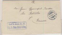 DR - Posen O 1 1908, Dienstbrief Frei D. Ablösung No.21 N. Gnesen - Allemagne