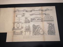 ANNALES PONTS Et CHAUSSEES (Allemagne) - Plan Des Ports Allemands De La Mer Du Nord - Graveur Macquet 1891 (CLF18) - Zeekaarten