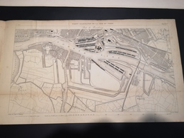ANNALES PONTS Et CHAUSSEES (Allemagne) - Plan Des Ports Allemands De La Mer Du Nord - Graveur Macquet 1891 (CLF19) - Zeekaarten