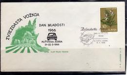 JUGOSLAVIA YUGOSLAVIA 21-22 5 1966 CARS RALLY DAN MLADOSTI COVER SPECIAL CANCEL - 1945-1992 Repubblica Socialista Federale Di Jugoslavia