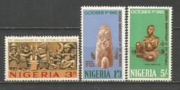 NIGERIA YVERT NUM. 174/176 ** SERIE COMPLETA SIN FIJASELLOS - Nigeria (1961-...)