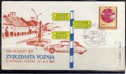 JUGOSLAVIA YUGOSLAVIA 20-21 5 1967 CARS RALLY DAN MLADOSTI COVER SPECIAL CANCEL - 1945-1992 Repubblica Socialista Federale Di Jugoslavia