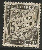 France - 1882 Postage Due 15c Used   Sc J17 - Postage Due