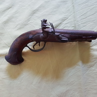 Pistolet -   Canons  Juxtaposés - Poudre Noire - Armes Neutralisées