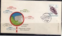 JUGOSLAVIA YUGOSLAVIA 25 5 1968 CARS RALLY DAN MLADOSTI KARLOVAC COVER SPECIAL CANCEL - 1945-1992 Repubblica Socialista Federale Di Jugoslavia