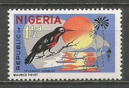 NIGERIA AVE FAUNA YVERT NUM. 179 ** NUEVO SIN FIJASELLOS - Nigeria (1961-...)