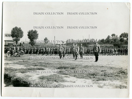 FOTOGRAFIA ESERCITAZIONI MILITARI AL CAMPO FARNESE CAMPO SPORTIVO DATURI PIACENZA ANNI '30 FOTO STUDIO G. CROCE - Guerra, Militari