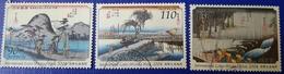 Japon 2004 3574 3576 Semaine Internationale De La Lettre écrite Estampe Photo Non Contractuelle - 1989-... Empereur Akihito (Ere Heisei)