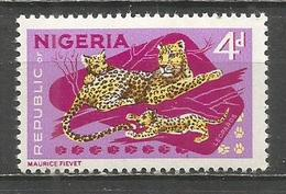 NIGERIA LEOPARDOS FAUNA YVERT NUM. 182 ** NUEVO SIN FIJASELLOS - Nigeria (1961-...)
