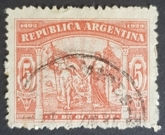 1929, The 437th Anniversary Of The Discovery Of America, Republica, Argentina, *,**, Or Used - Argentina