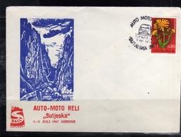 JUGOSLAVIA YUGOSLAVIA 1-3 7 1967 CARS RALLY AUTO MOTO RELI SUTJESKA COVER SPECIAL CANCEL - 1945-1992 Socialist Federal Republic Of Yugoslavia