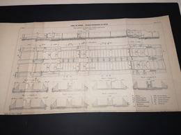 ANNALES PONTS Et CHAUSSEES (Dep 13) - Plan Du Canal De Panama-Ecluses Supérieures De Gatun - Imp A.Gentil 1912 (CLF22) - Zeekaarten