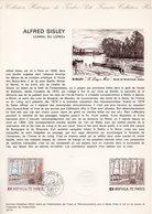 HISTORIQUE DU TIMBRE ARPHILA 75 PARIS 1974 A SISLEY - Documents Of Postal Services