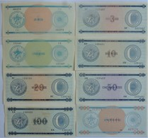 Billets De Cuba Série C Complète 8 Neufs/UNC Cote 2009: 47 $ - Cuba