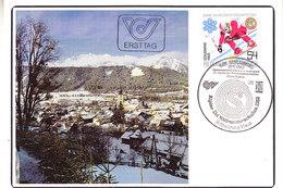 Austria 1982 Alpine Ski Weltmeisterschaften 1v Maxicard (42400B)                              ) - Maximumkaarten
