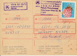 BERLIN-KÖPENICK / DDR  - 25.1.90  , Einzahlungsauftrag - Covers