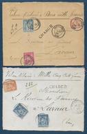 Tarn - Lot De 4 Devants De Lettres Chargées De Puy Laurens Avec Type Sage - Marcophilie (Lettres)