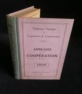 ( Economie Socialisme Coopératives ) ANNUAIRE DE LA COOPERATION 1930 Charles GIDE Suède Anders HEDBERG - Economie