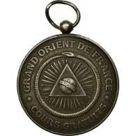 France, Médaille, Masonic, Grand Orient De France, Cours Commerciaux Du GODF - France