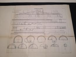 ANNALES PONTS Et CHAUSSEES (Dep 69) - Plan Du Soutterrain Des Echarmeaux - Imp L.Courtier 1900 (CLF23) - Máquinas