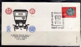 JUGOSLAVIA YUGOSLAVIA 3-5 3 1967 MILANO ZAGREB CARS RALLY AUTO MOTO TROFEO AUTOMOBILISTICO COVER SPECIAL CANCEL - 1945-1992 Repubblica Socialista Federale Di Jugoslavia