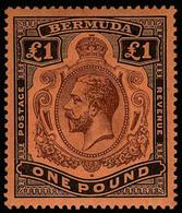 Bermuda , £1 Black / Violet  , SG 55 , MNH ** - Non Classés