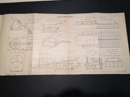 ANNALES DES PONTS Et CHAUSSEES - Plan Matériel De Dragage De Canal - Imp A.Gentil 1912 (CLF24) - Nautical Charts