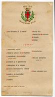 MENU GRAND HOTEL MILANO 23 GIUGNO ANNO 1904 - Menu