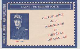 France, Carnet Centenaire De La Nayissance Du Général De Gaulle, 1990. - Erinnophilie