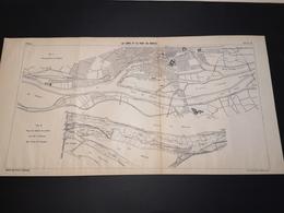 ANNALES DES PONTS Et CHAUSSEES (Dep 44) - Plan De La Loire Et Du Port De Nantes - Imp A.Gentil 1915 (CLF25) - Cartes Marines