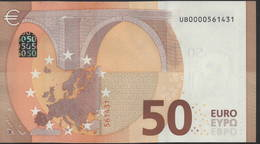 50 EURO FRANCE  UB0000  U001  - DRAGHI   UNC - 50 Euro
