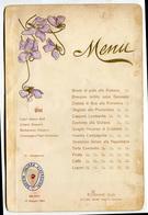MENU A RILIEVO SOCIETA ITALIANA ALBERGATORI MILANO 24 GIUGNO ANNO 1904 RISTORANTE COVA - Menu