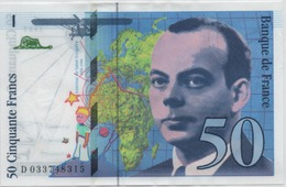 50 FRANCS ST EXUPERY  1997 - 1992-2000 Laatste Reeks