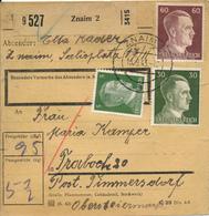 ZNAM / Znojmo  /  Südmähren  - 1943 , Paketkarte Nach Traboch / Timmersdorf - Briefe U. Dokumente