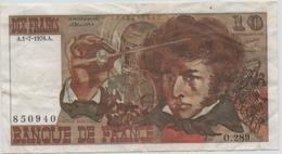 10 FRANCS BERLIOZ  1976  SERIE 0.289 - 1962-1997 ''Francs''