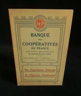 ( Economie Socialisme Coopératives COOP ) BANQUE DES COOPERATIVES DE FRANCE 1930 - Economie