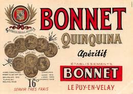 """D9257 """" BONNET - QUINQUINA - APERITIF  """".  ETICHETTA ORIGINALE. - Etichette"""