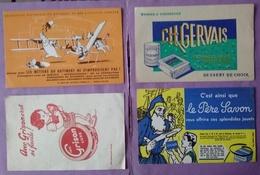Buvard Lot 8 Buvards  Metiers Du Batiment - Fromage Gervais - Prefontaines - Persavon -baignol - Plan Marshall - Lunette - Buvards, Protège-cahiers Illustrés