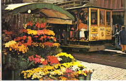 Postcard Of San Francisco, California  Cable Car And Flower Stall (9419) - Tram