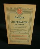 ( Economie Socialisme Coopératives COOP ) BANQUE DES COOPERATIVES DE FRANCE 1931 - Economie