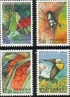 1997 Insect Protection Stamps Butterfly Beetle Fauna - W.W.F.