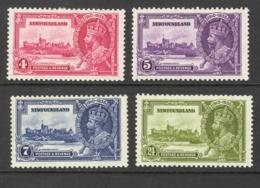 Canada Newfoundland Sc# 226-229 MH (c) 1935 4c-24c Silver Jubilee Issue - 1908-1947